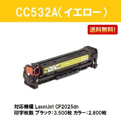 hp(ヒューレット・パッカード) CC532A イエロー【純正品】【翌営業日出荷】【送料無料】【LaserJet CP2025dn】【SALE】
