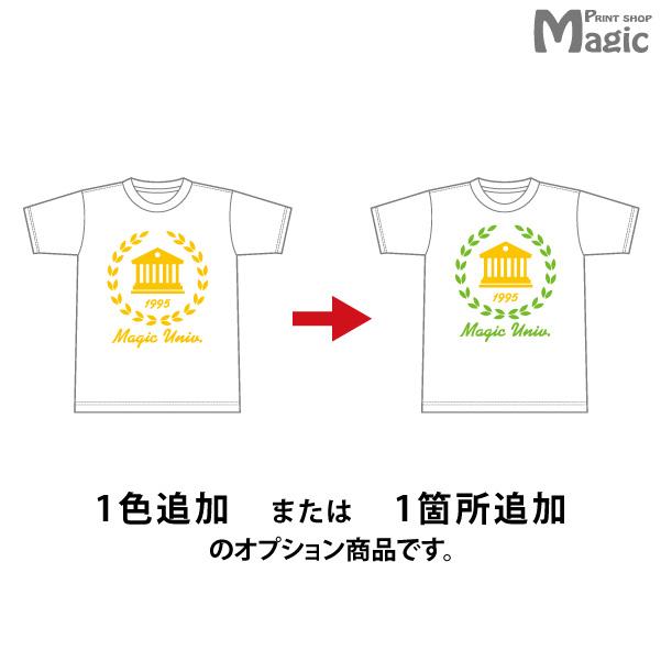 【オプション】Tシャツポロシャツパーカートレーナーバッグエプロン1色または1ヶ所追加5枚~9枚用