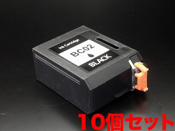 BC-02 キヤノン用 BC-02 リサイクルインクカートリッジ ブラック 10個セット ブラック×10個セット