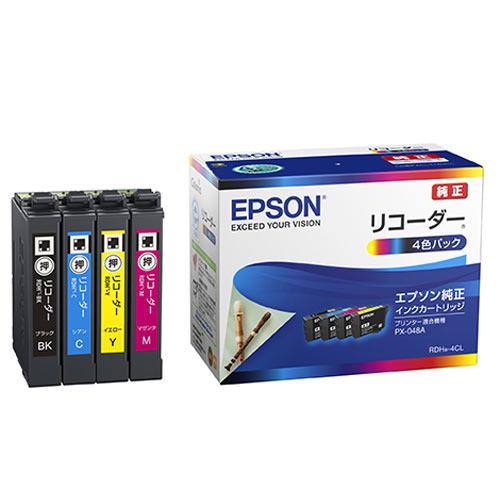 EPSON 純正インク RDH リコーダー インクカートリッジ 4色セット RDH-4CL