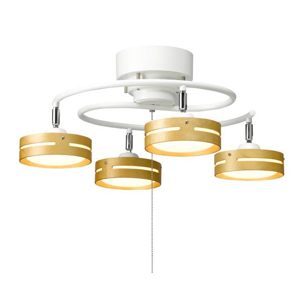 ヤザワ LED ひも式 S字 4灯 シーリングライト 天井照明 Y07CEL40L03WH (sb) ホワイト
