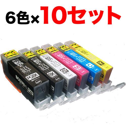 BCI-371XL+370XL/6MP キヤノン用 BCI-371XL+370XL 互換インク 超ハイクオリティ 増量 6色×10セット 増量6色×10セット