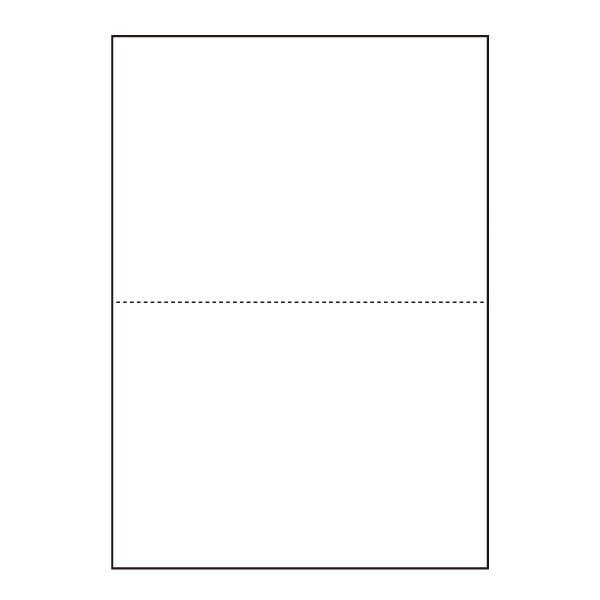 プリンタ帳票カット紙 汎用マルチカット 業務用 白紙 A4 2分割 穴無し 500枚×5冊セット SW-W20H 【メーカー直送品】