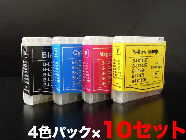 LC10-4PK ブラザー用 LC10 互換インクカートリッジ 4色×10セット