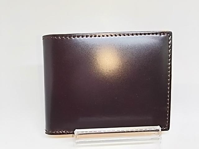 コードバン 二つ折り財布 チョコ CODOVAN 馬革 本革 小銭入れ付き メンズ オール革 財布 人気 製造 直販 定番 シンプル 良質 札入れ