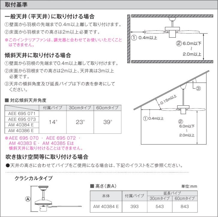 コイズミ照明シーリングファンAM40383E(直付型)