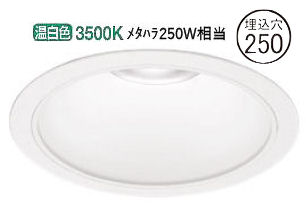 オーデリック LEDダウンライト(受注生産品)XD301139軒下使用可