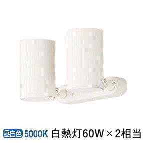 パナソニックLEDスポットライト60形X2拡散昼白色 LGS1310NLE1