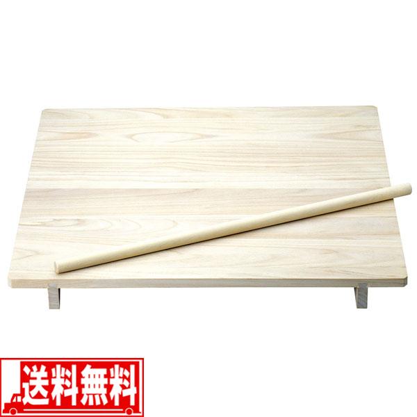そば うどん 天然木製 のし板 麺棒 脚付 大 そば打ち 道具 【smtb-F】 送料無料
