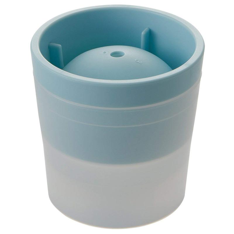 ロックアイス用 アイスボールメーカー ブルー 製氷器 丸い氷