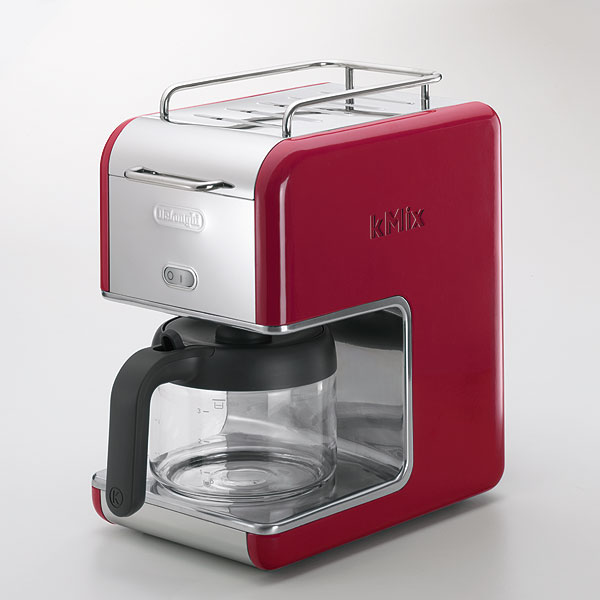 Delonghi Drip Coffee Maker 6 Cups For Red Fs3gm