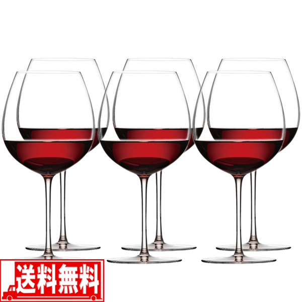 ワイングラス WINEX/HTT ブルゴーニュ 6脚セット 【smtb-F】 送料無料