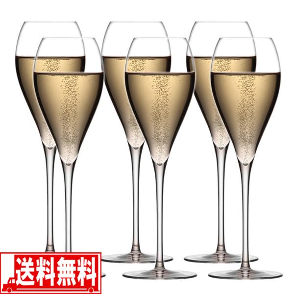 シャンパングラス WINEX/HTT シャンパーニュ 6脚セット 送料無料
