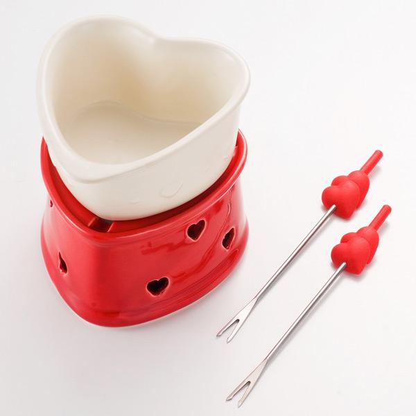 Heart-shaped chocolate fondue set fs3gm
