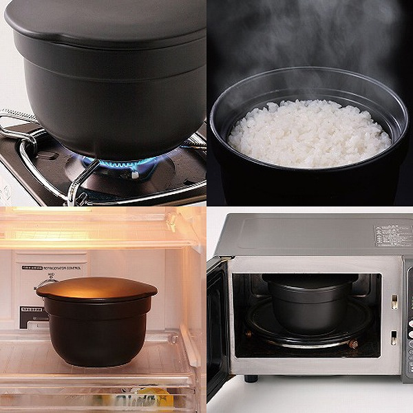 [Made in Japan] Arita ? cooking pot, 150 ~ 300g cooking pot (double lids) rice cooker (direct firing, microwave oven)