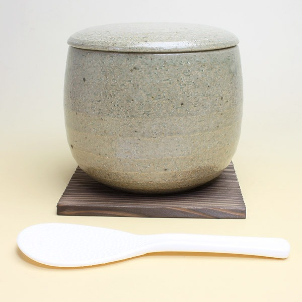 おひつ (ash glaze) 10P13Dec13 upup7 made by Iga firing, ceramics