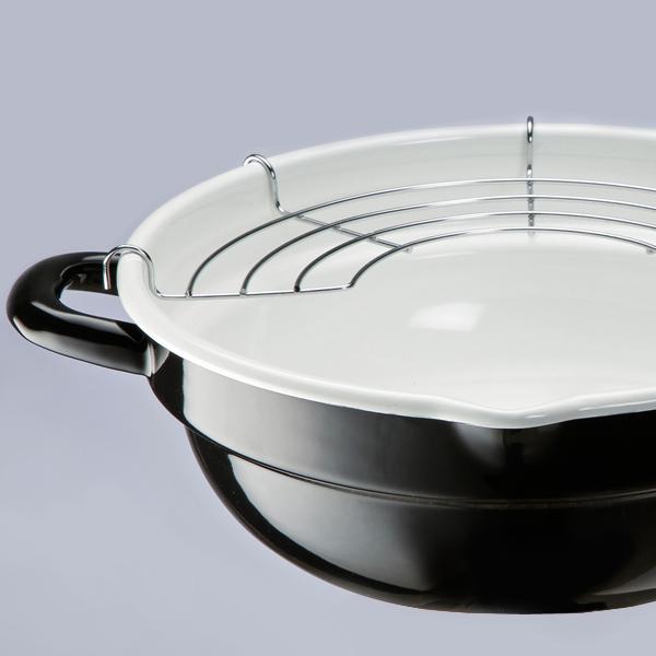 For IH enamel fryer(with half-moon Ami)24cm