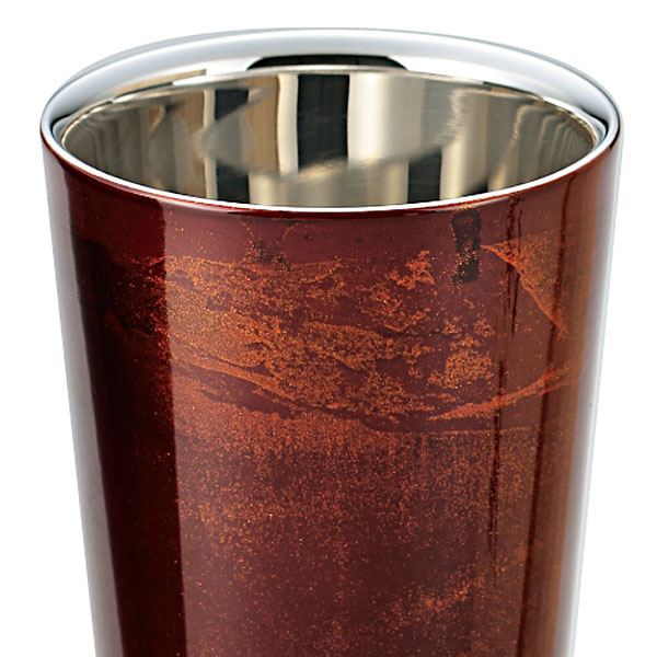 【Japan】Lacquerware style Dual structure stainless cup(270ml)Red