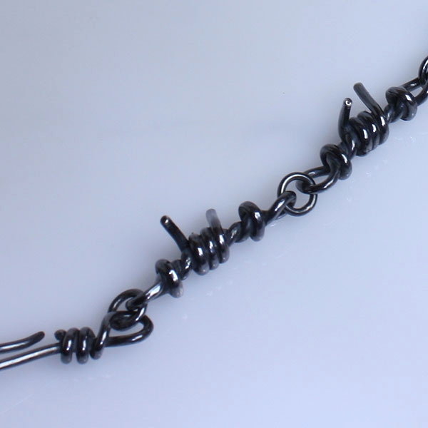 Smudging out barbed-wire entanglements men bracelet silver 925