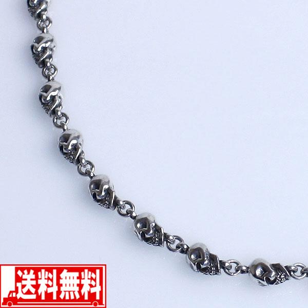 スカル 50cm メンズネックレス シルバー925【smtb-F】 送料無料