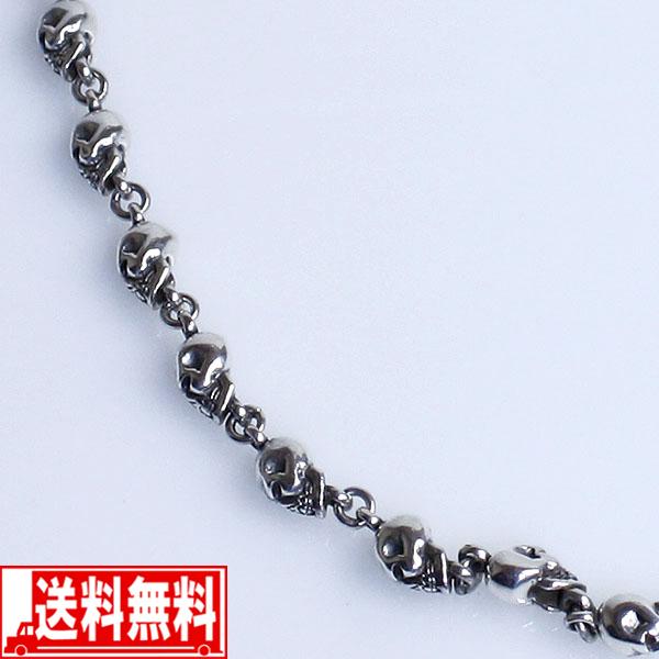 スカル 55cm メンズネックレス シルバー925【smtb-F】 送料無料