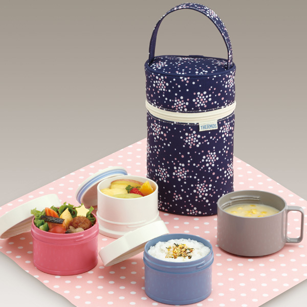 THERMOS 3-stage cold insulation lunch box (DJG-551/POB)