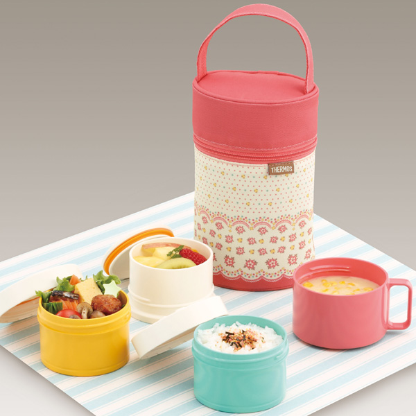 THERMOS 3-stage cold insulation lunch box (DJG-550-PFL)