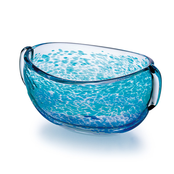 Made in Japan-basin type vase, f-79985 Adelia / Ishizuka glass and glass products