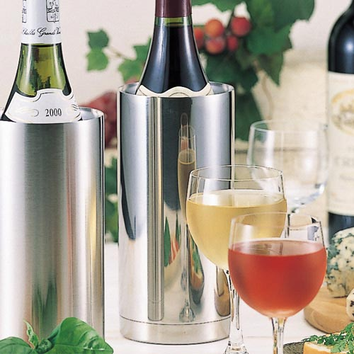 Two folds of stainless steel wine cooler slim mirrors