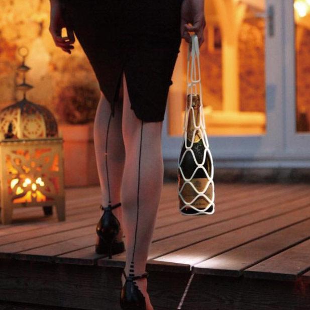 Support included number two from wine Silicon bottle holder Ursula yellow wine bag / wine bottle bag / bottle / wine / bag / handbag / bag 532P17Sep16