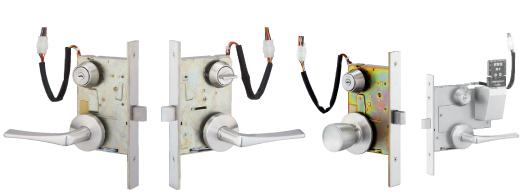 卸直営 防犯用品 美和ロック MIWA AUSシリーズ レバー55型 ST 外側:シリンダー 玄関用電気錠 バックセット76 期間限定 瞬時通電施解錠型 内側:シリンダー