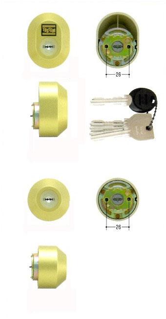 美和ロック(MIWA)交換用シリンダー(MCY-444)UR(ゴールド)(2ヶ同一)