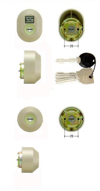 美和ロック(MIWA)交換用シリンダー(MCY-445)UR(ステン)(2ヶ同一)