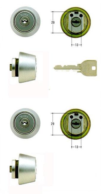 美和ロック(MIWA)交換用シリンダー(MCY-448)U9 LZ1(HG)(2ヶ同一)