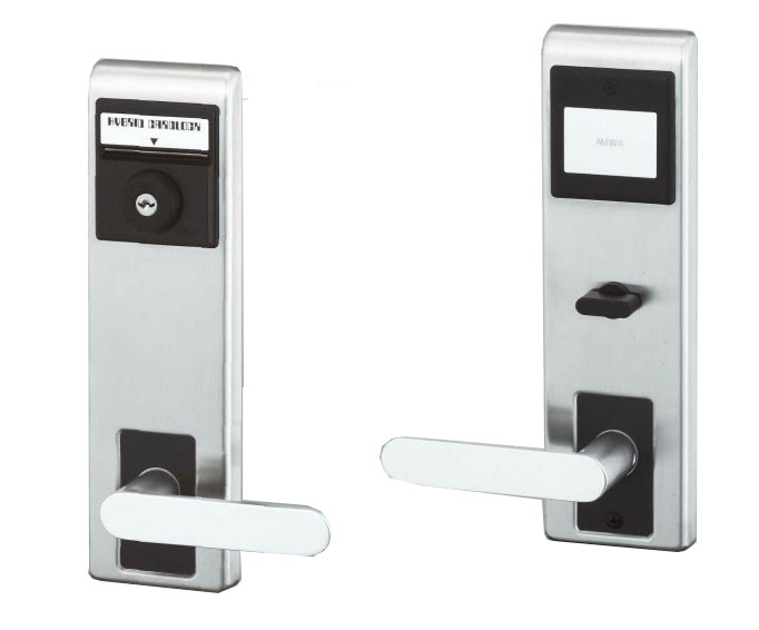 美和ロック(MIWA)ハイブリッドカードロック MC25(ST/ハンドルはSV)(外側:カードシリンダー/内側:サムターン)普及型のハイブリッドカードロックです