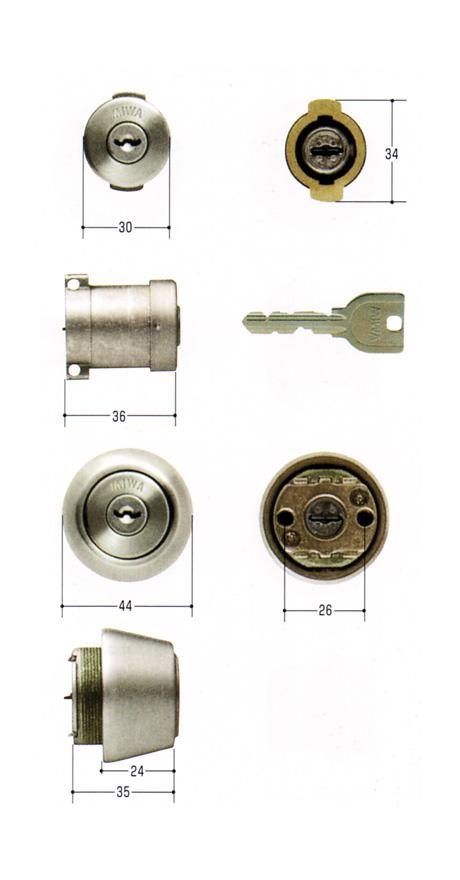 美和ロック(MIWA)交換用シリンダー(MCY-410)U9 DA75/U9 TE24(ST)(2ヶ同一)