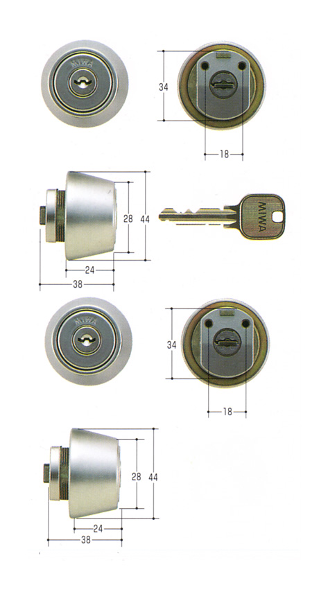 防犯用品 開催中 美和ロック MIWA 交換用シリンダー MCY-421 LZ2 2ヶ同一 SALENEW大人気 HG U9