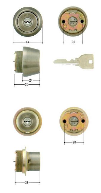 美和ロック(MIWA)交換用シリンダー(MCY-452)U9(2ヶ同一)