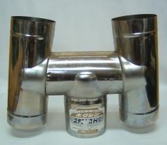 ステンレス煙突 H笠 5寸(約152mm)