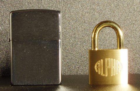 アルファ(ALPHA)南京錠 30mm(同一キー)12個セット