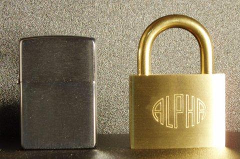 アルファ(ALPHA)南京錠 50mm(同一キー)6個セット