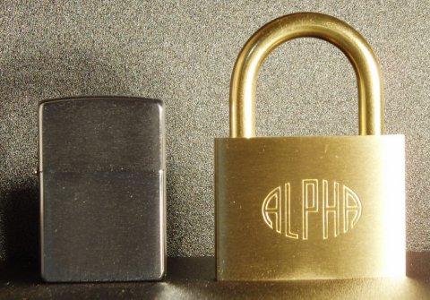 アルファ(ALPHA)南京錠 60mm(同一キー)6個セット