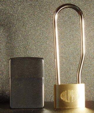 アルファ(ALPHA)吊長 南京錠 35mm(同一キー)吊寸法84mm6個セット