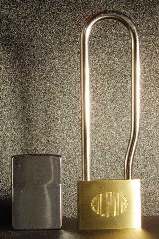 アルファ(ALPHA)吊長 南京錠 50mm(同一キー)吊寸法120mm6個セット
