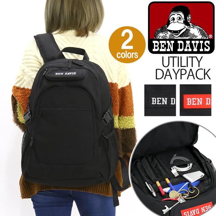 BEN DAVIS ベンデイビス リュックサック スタンダードタイプ ユーティリティ デイパック UTILITY DAYPACK リュックサック バックパック デイパック メンズ レディース 男女兼用 BDW-9304