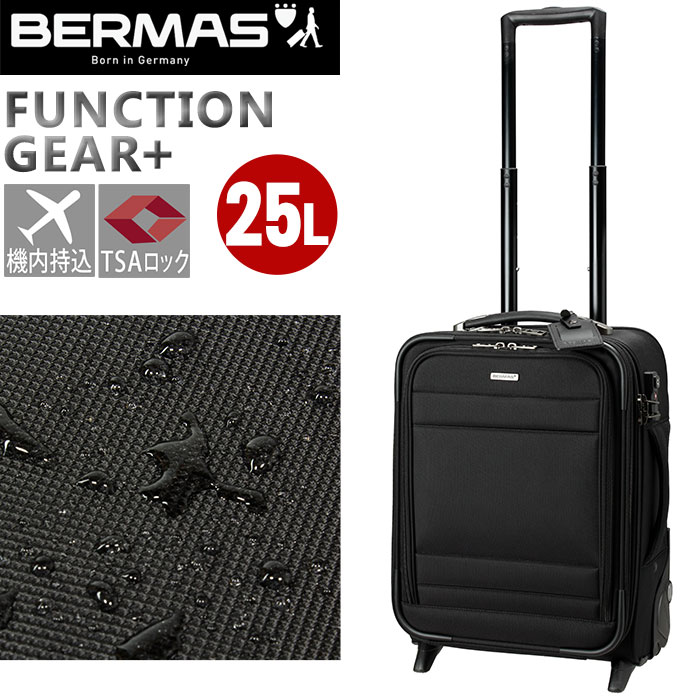 BERMAS バーマス ビジネスキャリー FUNCTION GEAR PLUS ファンクションギアプラス スーツケース キャリーバッグ キャリーケース ビジネスバッグ 2輪キャスター 縦型 出張 機内持込 60422
