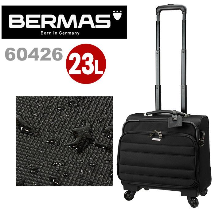 スーツケース バーマス BERMAS FUNCTION GEAR PLUS ファンクションギアプラス ソフトキャリー 撥水 キャリーバッグ キャリーケース ビジネスキャリー ビジネスバッグ 4輪 横型 ビジネス 出張 旅行 23L TSAロック 機内持込 60426