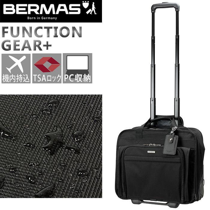 ビジネスキャリー バーマス BERMAS FUNCTION GEAR PLUS ファンクションギアプラス スーツケース キャリーバッグ キャリーケース ビジネスバッグ PC対応 2輪キャスター 横型 出張 機内持込60428