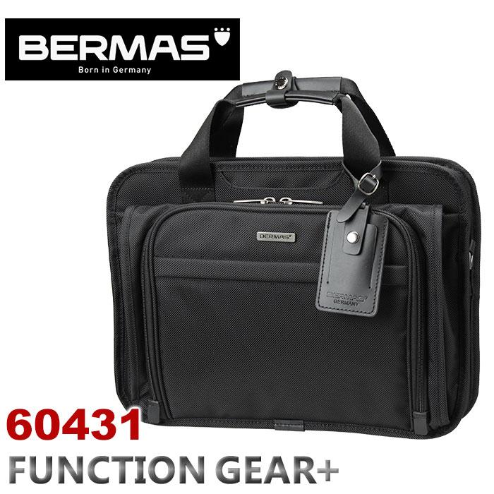 ビジネスバッグ バーマス BERMAS FUNCTION GEAR PLUS ファンクションギアプラス キャリーオン機能 ショルダーバッグ 拡張 エクスパンダブル ビジネス 通勤 出張60431