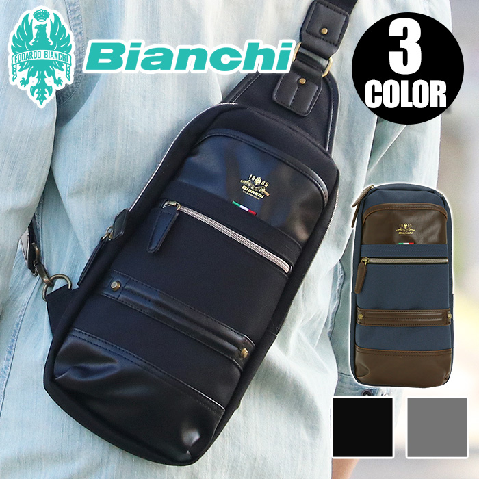e7bbc3265e7c ボディバッグBianchiビアンキショルダー斜め掛けバッグ送料無料メンズワンショルダーバッグボディーバッグ